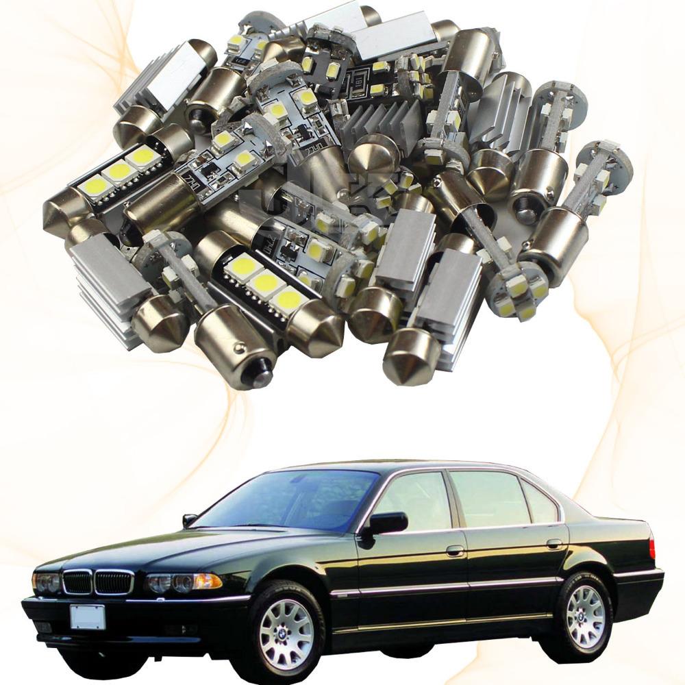 Free Shipping!!! 7xWhite Canbus Led Interior Light Kit For BMW 7 Series 94-01 BMW E38 740i (84)(China (Mainland))