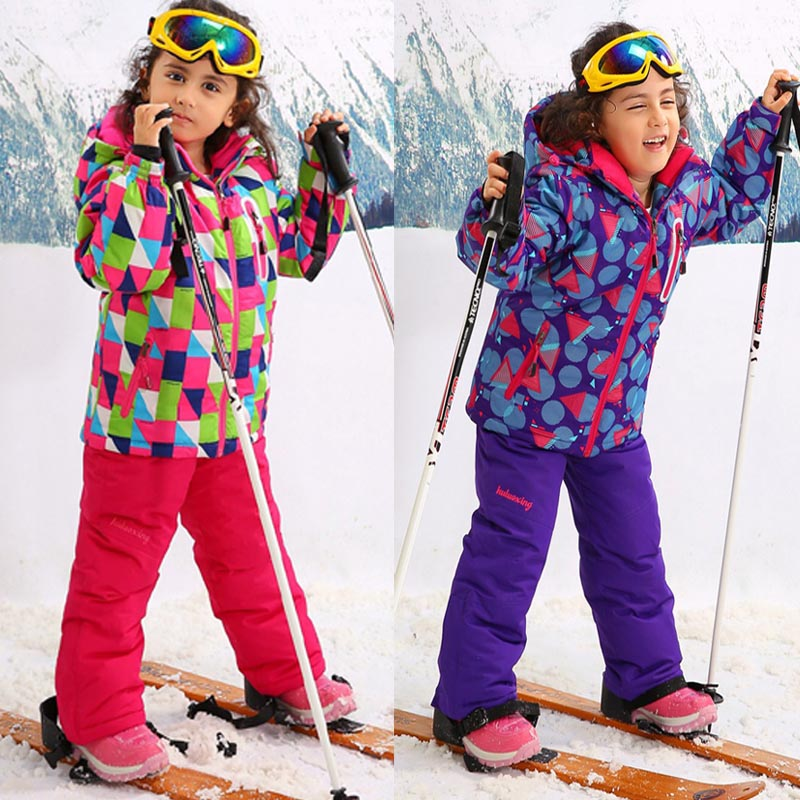 Winter Ski Jacket Children's Outdoor sports Coat Mountaineering wear Keep warm Waterproof windproof Pants girl - Fashion Shopping Department store