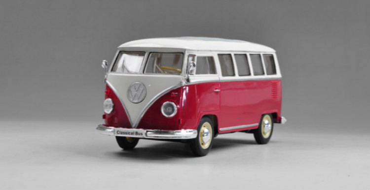 1:24 For 1963 Volkswagen T1 Bus Vintage Scale Model Metal Diecast Car Model Toys Collection(China (Mainland))