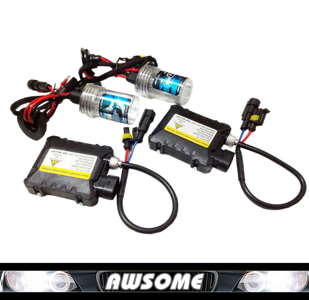 conversion car headlight xenon hid kit 35W H1 H3 H7 H8 H10 H11 H9 H11 H13 9005 9006 lamp with silm ballast color 3000k~30000K(China (Mainland))