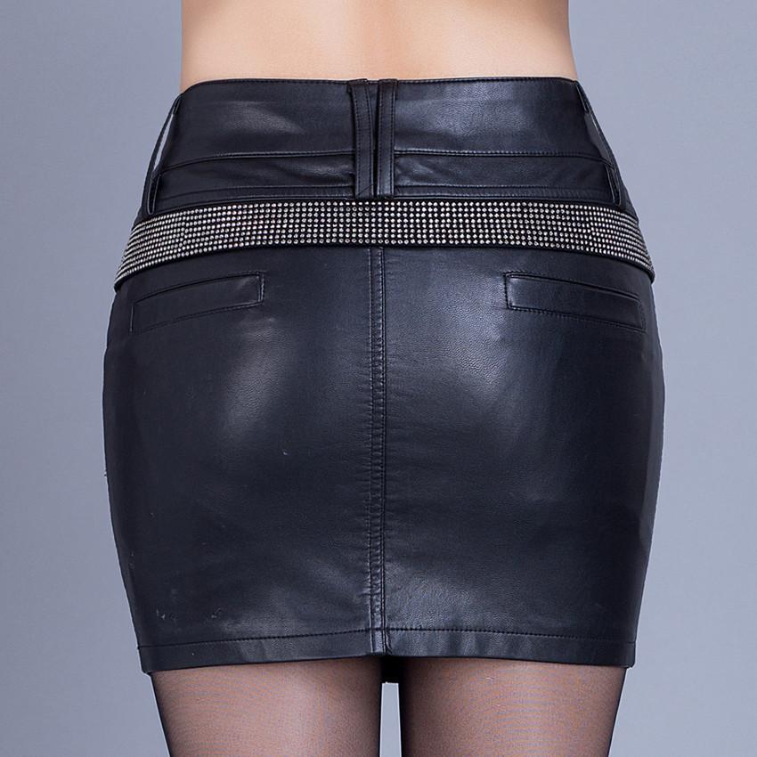 short saia lapis feminina women faux water wash pu leather pencil skirts plus size black hot. Black Bedroom Furniture Sets. Home Design Ideas