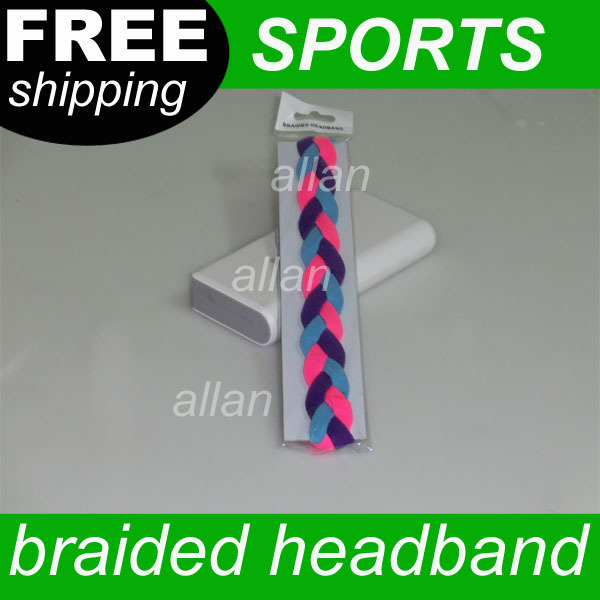 free shipping custom tennis ball badminton basketball sports braided mini headband(China (Mainland))