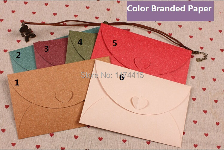 6 colors Love buckle cross section envelope Color Branded Paper envelope ,gift envelope wallet 100pcs/lot solid color(China (Mainland))
