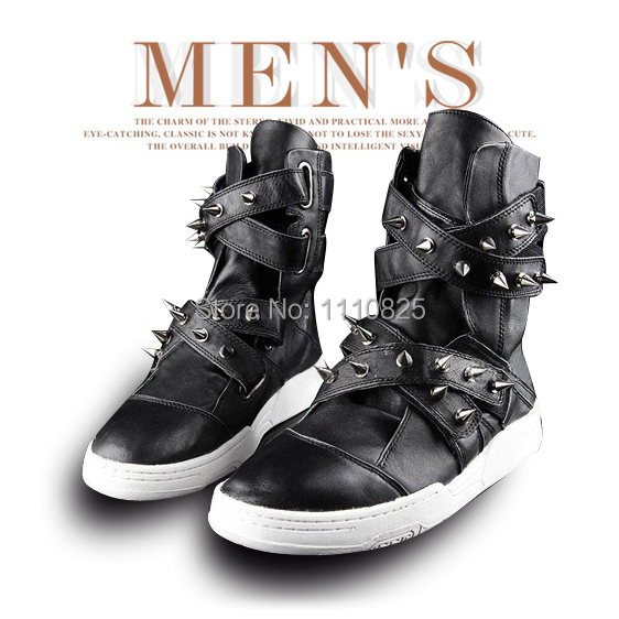 Фотография Free shipping in the spring Fashion-Ankle Boots for men, Fashion Rivets Riding boots, men