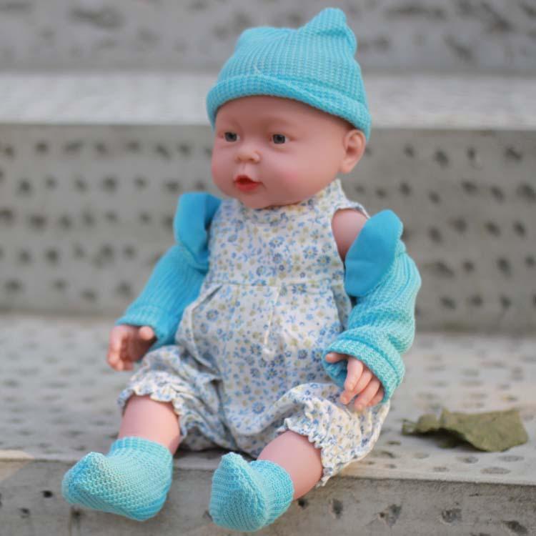 "soft vinyl reborn baby twins doll 16"" silicone baby girl"