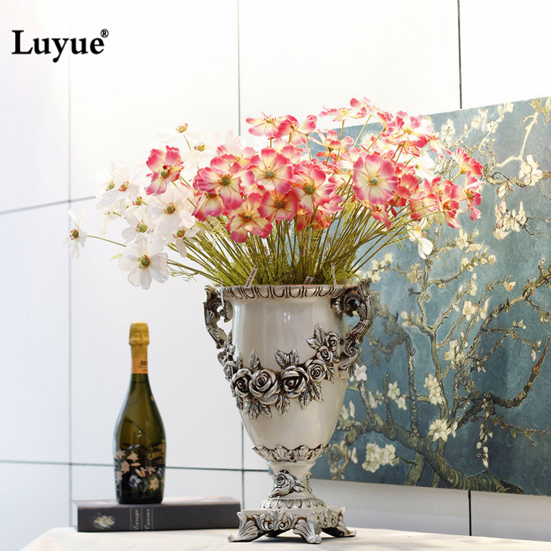 Luyue Artificial flowers fake Cosmoses lifelike silk flowers for Wedding home decoration centerpiece flowers Party Decor 4 color(China (Mainland))