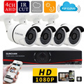 SUNCHAN Full HD AHD H 4CH 1080P 2 0MP DVR Kits Security Cameras System Sony CCD