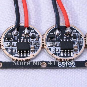 2PCS/LOT S-168-5 3.7V 2400MA 10W LED flashlight 5-mode Circuit Board for CREE MCE XM-L XM-L2 LED 168MM torch driver Emitters