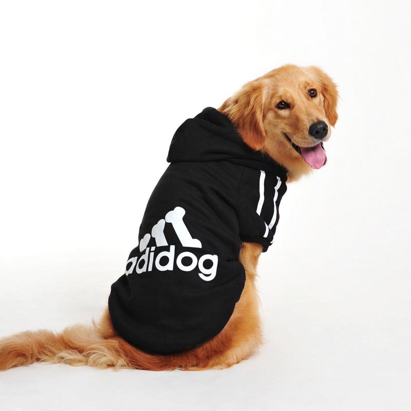New 2016 All Season Dog Clothes Pets Coats Hot Sale Big Dog Clothes Adidog Clothes For Dog Pet Products 5 colors SXL-4XL Top(China (Mainland))