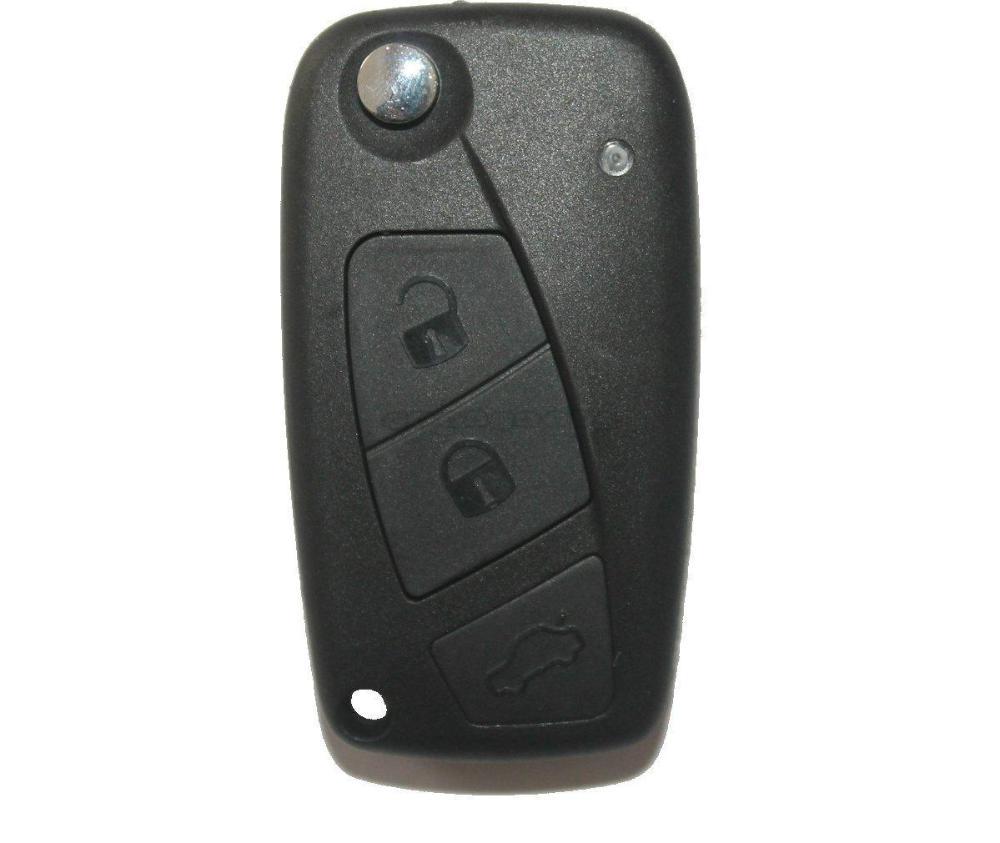 New Uncut Blank Folding Remote Key Case For Fiat Punto