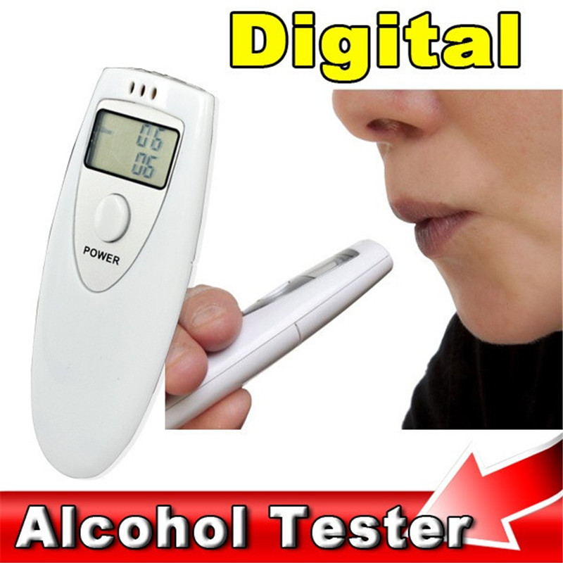 Professional mini LCD Display police digital breath alcohol tester breathalyzer alcoholimetro bafometro Gadget Meter Analyzer(China (Mainland))