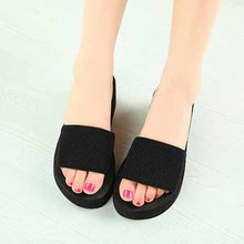 women shoes new summer fashion casual muffin sandals women sandals slippers slides solid Skid home wedge heel sandals,LB1587