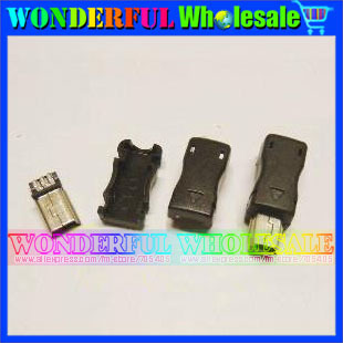 3-in-1 Male MINI 5P USB Plug Solder type A type,plastic shell<br><br>Aliexpress
