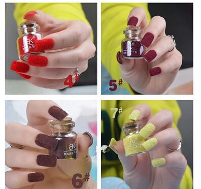 19 Colors Velvet Flocking Dust Powder Set Decoration Polish Nail Art Tip Design, Cheap Nail Polish(China (Mainland))
