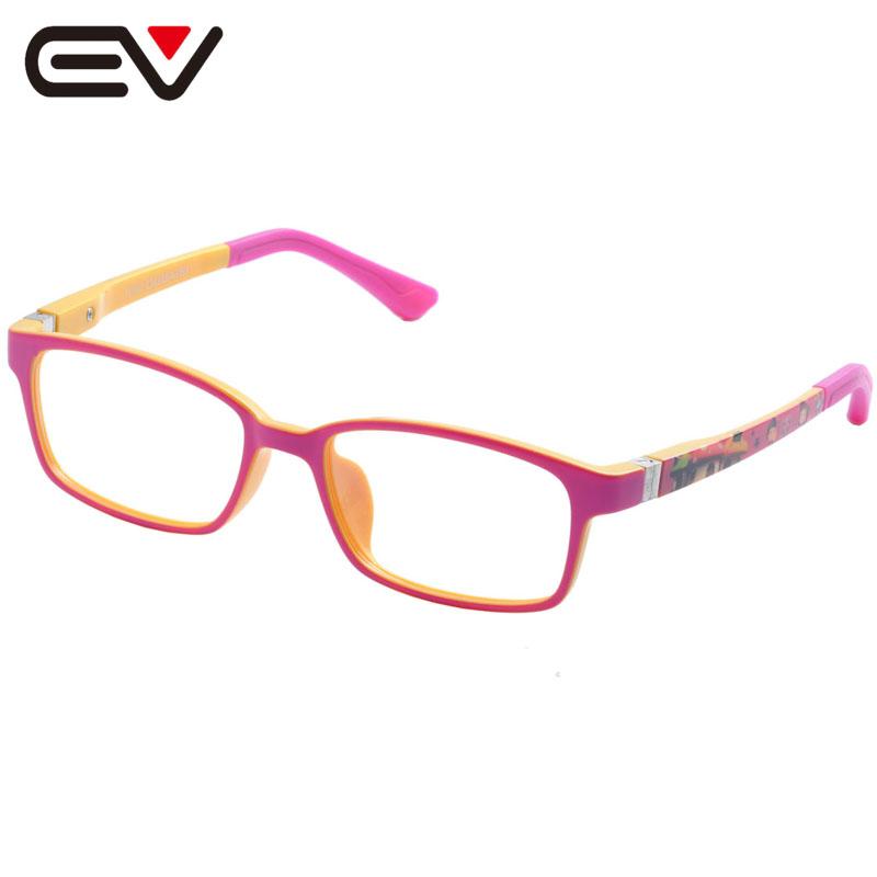 Fashion Baby Kids Toddler Acetate&Silicone Optical Eyeglasses Frames Girls Boys Children's Spring Hinge Eyewear Frames EV1389(China (Mainland))