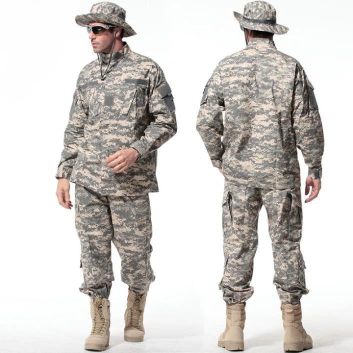 Gold-8-Colors-Tactical-Uniform--Jacket-And-Army-Pants-MultiCam-ACU-Woodland-A-TACS-FG-Camouflage