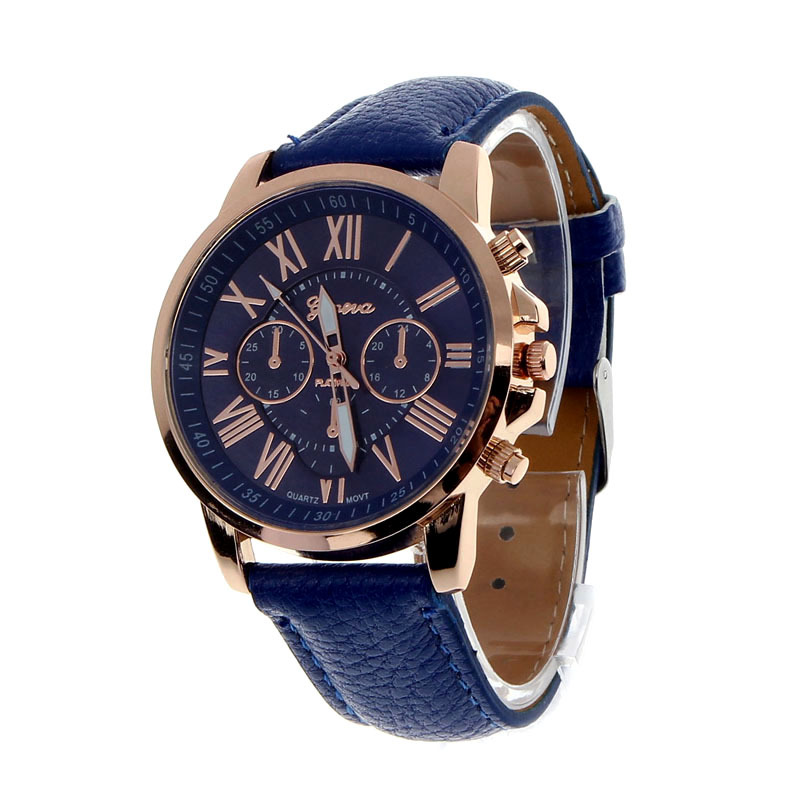 11 Colors 2015 New Fashion Ladies Watches Roman Numerals Faux Leather Analog Quartz Women Men Casual Relogio Hours Wrist Watch(China (Mainland))