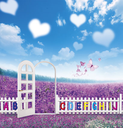 10*20feet(300*600CM) backdrop background photography photo Butterfly clouds flowers<br><br>Aliexpress