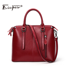 New 2016 Fashion Brand Genuine leather Women Handbag Europe and America Oil Wax Leather Shoulder Bag Casual Women Bag KJ036(China (Mainland))