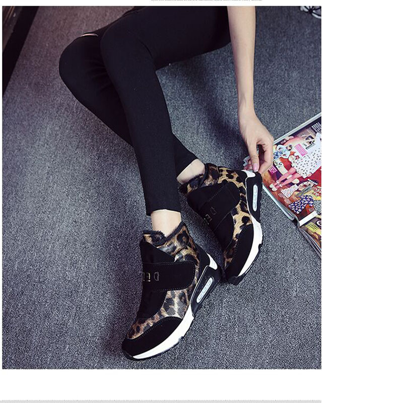The 2015 winter and warm velvet Blazer High shoes shoes Korean Velcro casual shoes leopard college wind<br><br>Aliexpress