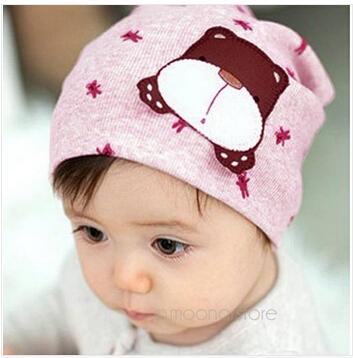 Newborn Baby Hat Autumn Winter Baby Beanie Warm Cartoon Cat Cotton Infant Cap Kids Clothing Accessories Cute Hat(China (Mainland))