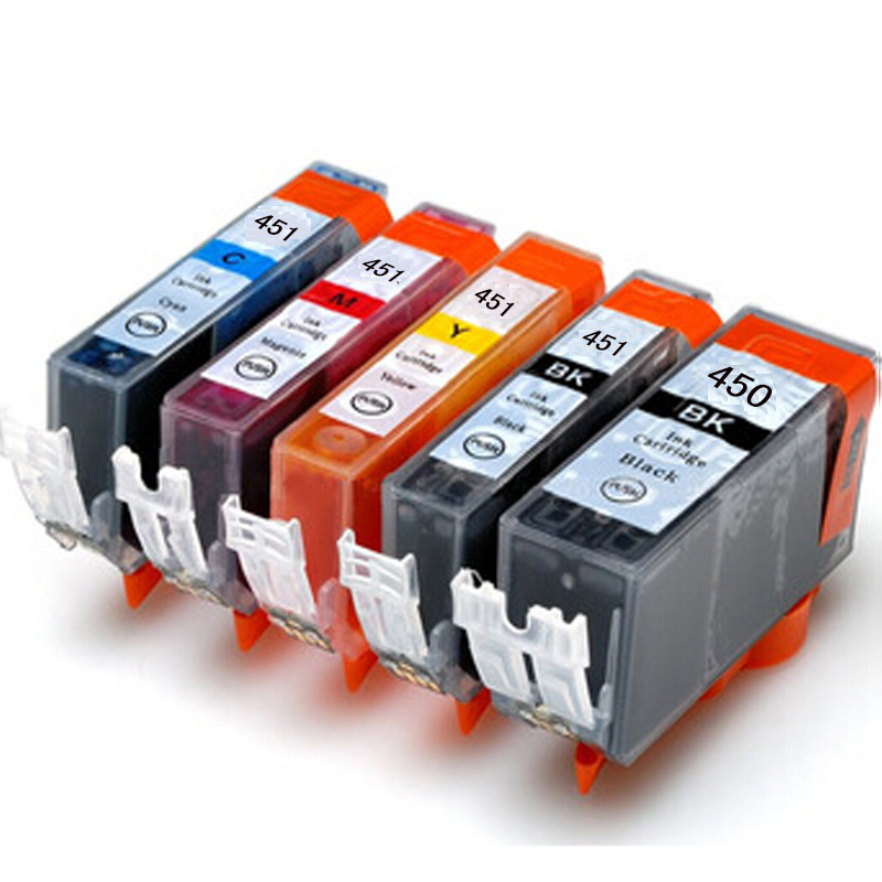 Гаджет  New PGI-450 CLI-451 , 5 color cartridges suit for Canon MG6340 ip7240 MG5440 , With ARC chips ,  None Офисные и Школьные принадлежности