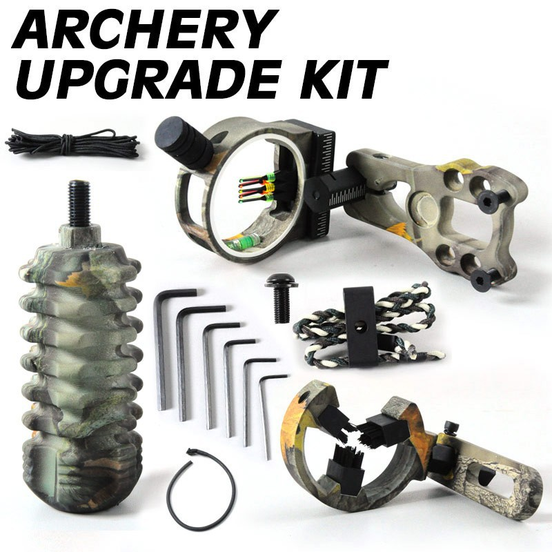 Archery acccessories Combo set Archery Upgrade 5pin Bow Arrow Rest Brush Stabilizer Braided Bow Sling Peep Sight Compound Bow