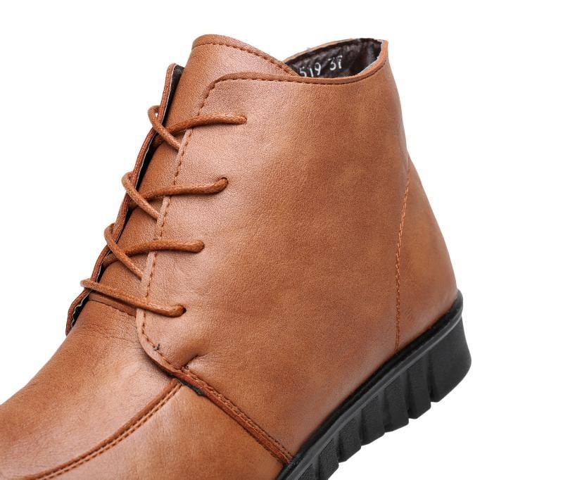 ซื้อ ฤดูหนาวใหม่แม่รองเท้าผ้าฝ้ายแฟชั่นสบายสบายกลาง-อายุรองเท้าผู้หญิงแบนอบอุ่นกับบู๊ทส์ล่างนุ่มขนาด40