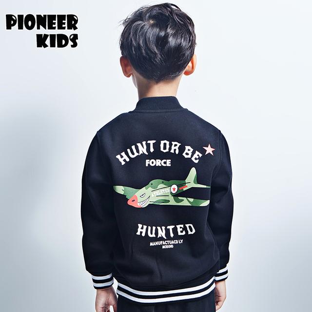 Pioneer Дети 2016 новые приходят Мальчики весна \ осень одежда Хлопок Пальто Дети Куртка Дети Повседневная Пальто Ребенок Верхняя Одежда Куртки