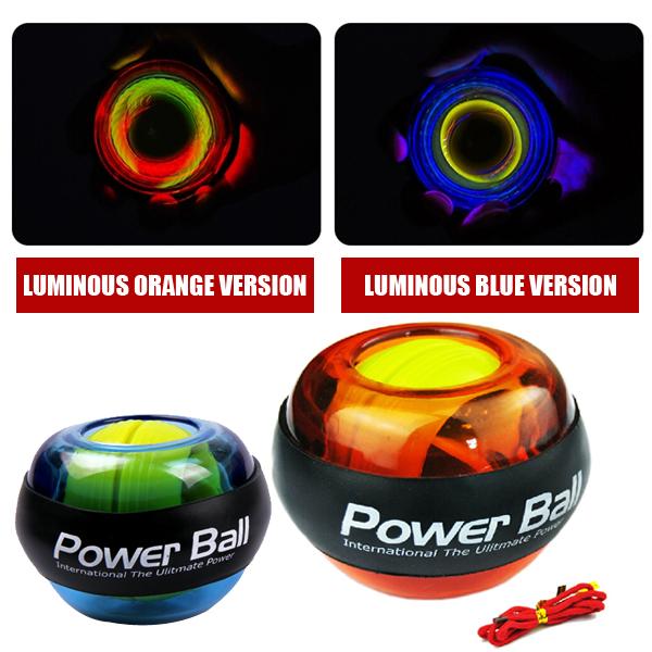 produto PowerBall Wrist Force Ball Gyroscope LED Lighting Wrist Strengthener Power Force Ball Arm Exercise Power Handball Exercise Ball