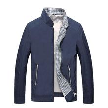 2015 Men's Summer Casual Jackets High Quality Office Gentleman Stand Collar Slim Fit Waterproof Zipper Coat Jackets Outwear