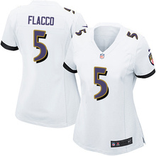 Stitiched,Baltimore Raven #5 Joe Flacco for women(China (Mainland))