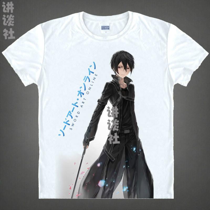 Sword art online t shirts kawaii japanese anime tshirt for Online tee shirt companies
