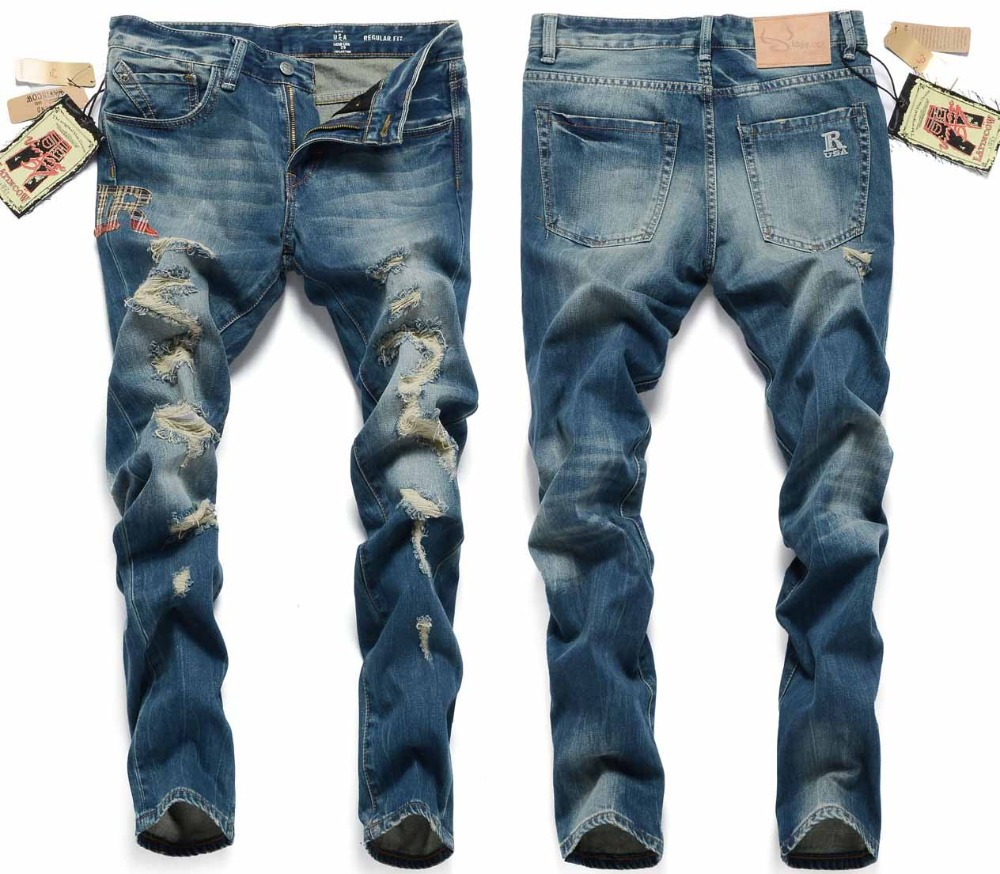Men's Jeans and Pants. Jogger, Zipper Jeans and Biker jeans.