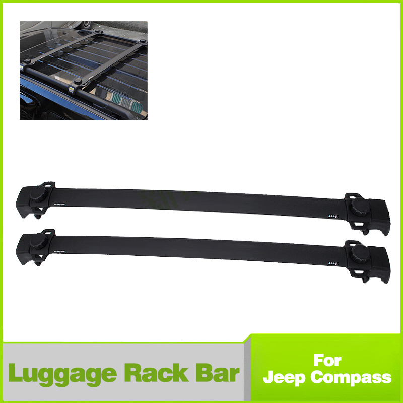 2Pcs Car Roof Rack Cross Bars Adjustable Cargo Luggage Carrier Shaft For Jeep Compass 2011-2015(China (Mainland))