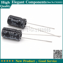 Buy 50PCS 25V 100UF 100UF 25V Aluminum Electrolytic Capacitor Size 6*11MM 25 V / 100 UF Electrolytic Capacitor for $1.47 in AliExpress store