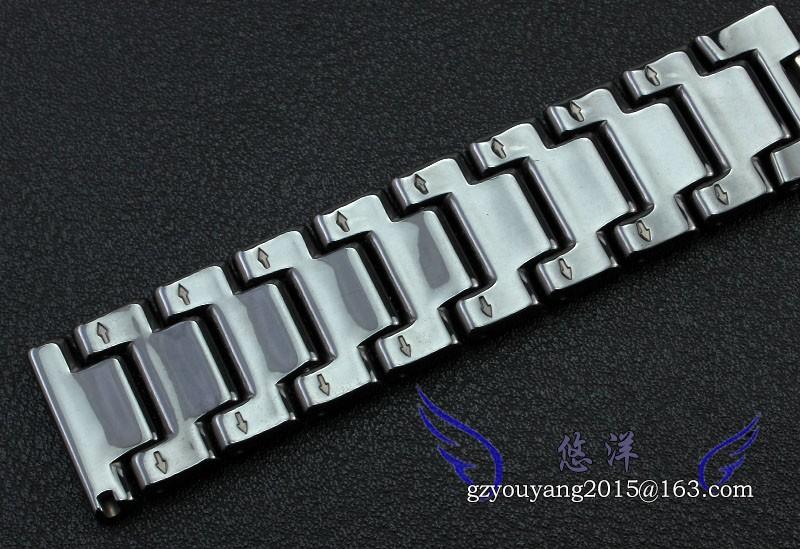 Youyang высококачественные керамические ремешок для часов из нержавеющей стали тянуть открытым пряжки мода часы accessories16 / 18 / 20 мм