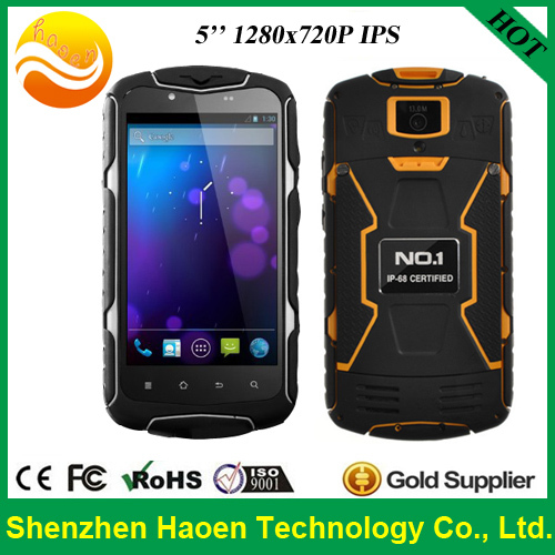 Cheap Price Mobile Phone Android Smart Phone NO.1 X-MAN 5.0Inch Ip68 Waterproof Rugged Cellphone OTG 13.0MP Dual Sim GPS(China (Mainland))