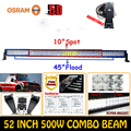 5D 500W ForOsram 52 High Quality External Car Lights LED Light Bar Off road Driving Lamps