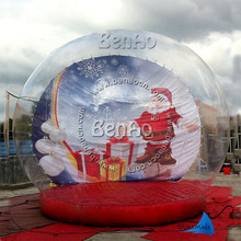 X024  4.5m High inflatable snow globes/ Giant Snow Globe Christmas Outdoor Decoration  Advertisement (China (Mainland))