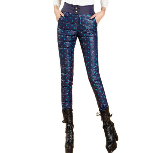 Последние новинки 2016 зимние женские брюки мода тонкий верхней одежды ветрозащитный ...