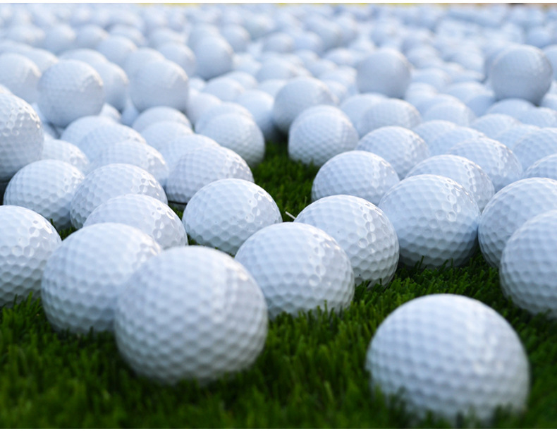 300pcs/lot Outdoor Practice Golf Balls Training Aid Free Shipping Drop Shipping Wholesale Double-deck Golf Ball(China (Mainland))