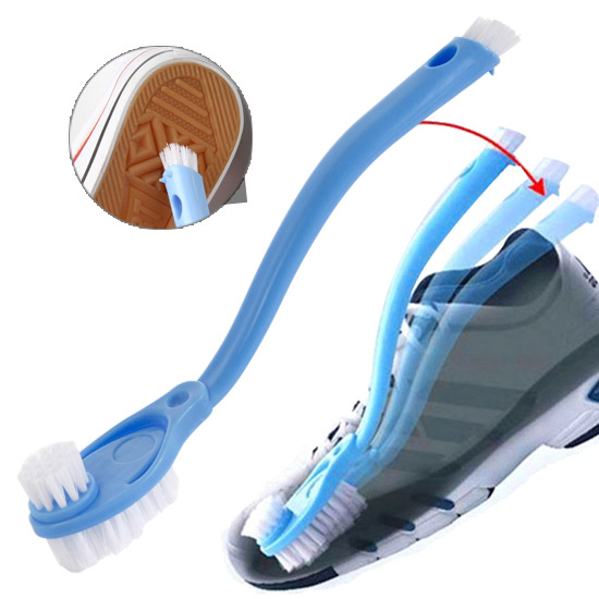 Revitalization of double slider long-handled brush cleaning wash shoes revitalize athletic shoes shoe brush shoes(China (Mainland))