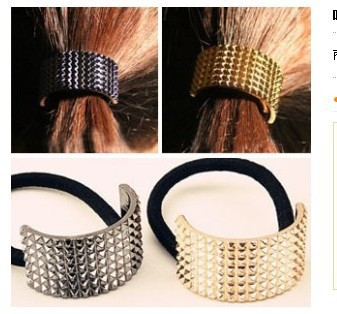 (Min order $10mix)Choking mouth peppers European catwalks semicircular metal hair band hair accessories hair rope