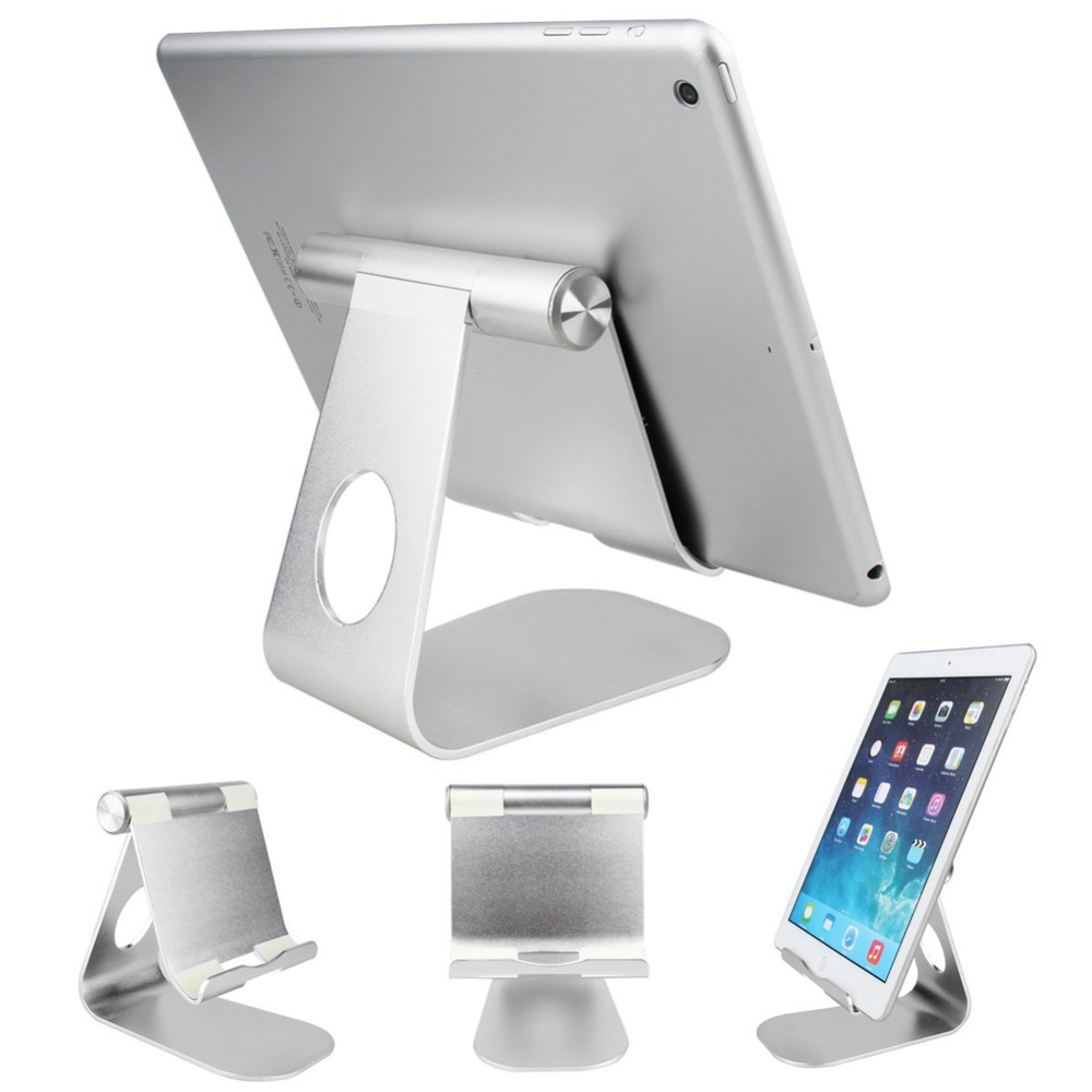 New Arrival 270 Degree Rotatable Aluminum Desktop Holder Table Stand For Smart Phone For Tablet(China (Mainland))