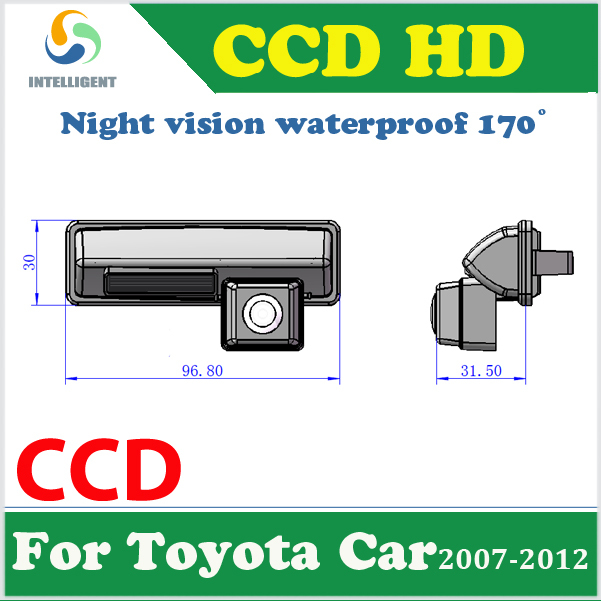 HD CCD night vision Car parking camera car reversing camera For Toyota Camry PICNIC Echo Verso Harrier Altezza waterproof color(China (Mainland))