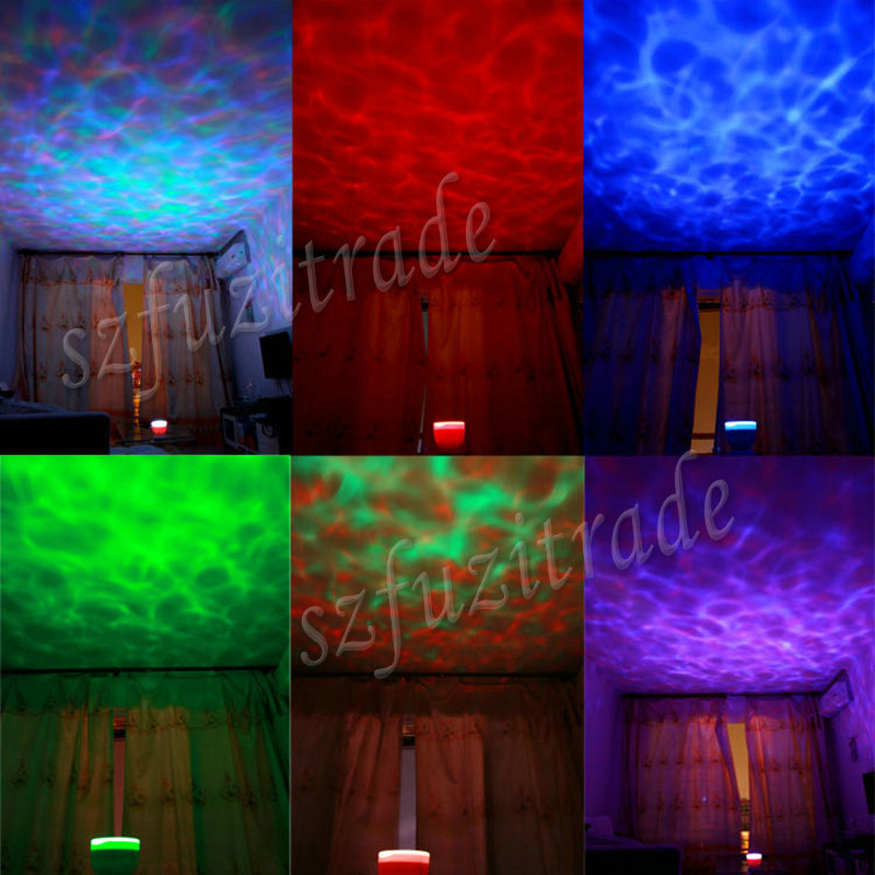 1pcs Amazing Led Night Light Ocean Wave Projector Daren Waves Projection Lamp with Speakers, Kid's Gift Fast Shipping AIA00478(China (Mainland))