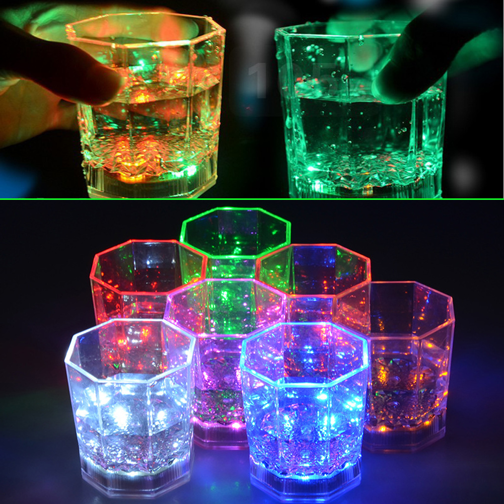 KTV Drinkware LED Glowing Mug Water liquid Inductive Light-up karaoke bar nightclub Paty shine cup KTV activity party FG(China (Mainland))