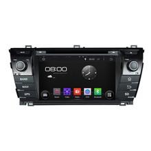 Cortex A9 HD 1024*600 Quad Core 1.6G CPU 16GB Android 5.1.1 Car DVD Player Radio GPS Navi Stereo for Toyota COROLLA 2014