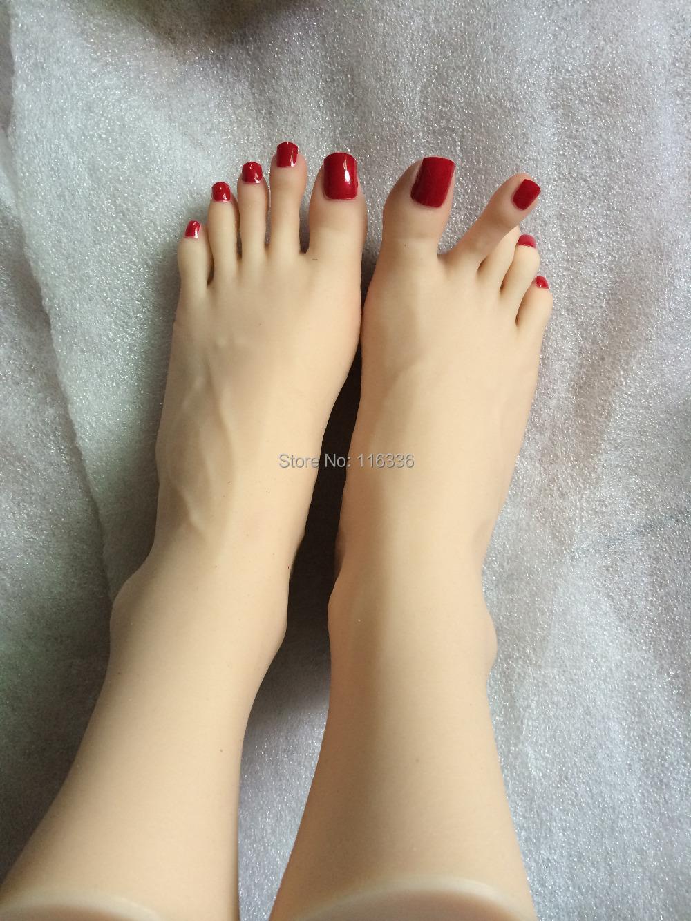 Real silicone sex dolls toe joints foot fetish real Silicon feet/Silicone foot model metal skeleton nails bone air soft feminino(China (Mainland))